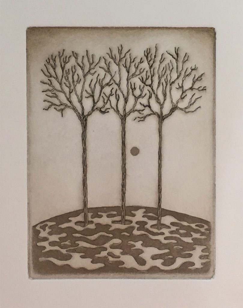"The Last Eclipse - aquatint 6""x8"" - $85"